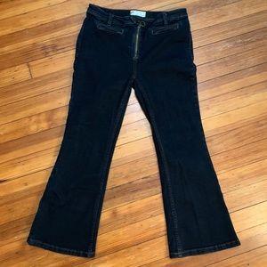 Free People denim crop Kick pants. Retro style 28
